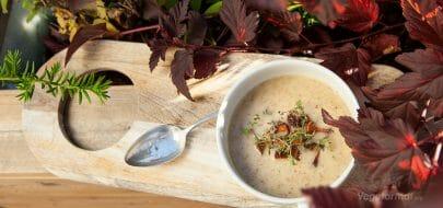 Kantarellsuppe – vegetaroppskrift