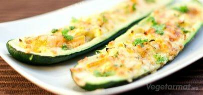Fylte squash – vegetaroppskrift