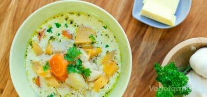 Kremet grønnsaksuppe – vegetaroppskrift