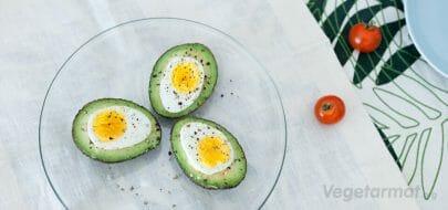 Avocado med egg – vegetaroppskrift