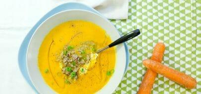 Gulrotsuppe med ingefær og appelsin – vegetaroppskrift