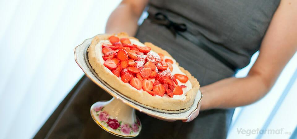 Pai med jordbær og mascarpone