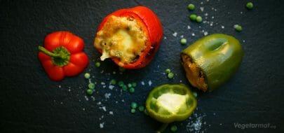Fylte paprika – vegetaroppskrift