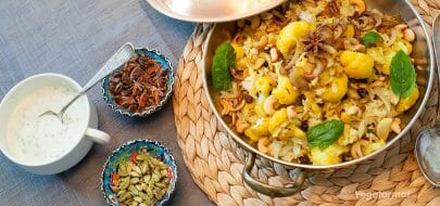 Blomkål-biryani – vegetaroppskrift
