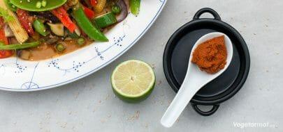 Rød karripasta – vegetaroppskrift