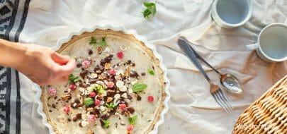 Cannoli-pai – vegetaroppskrift