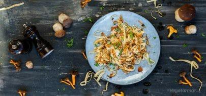 Tagliatelle med kantarell – vegetaroppskrift