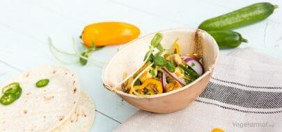Grønn karri-wrap – vegetaroppskrift