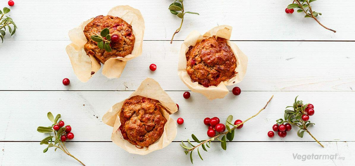 Høstmuffins med tyttebær