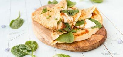 Crepes med mozzarella og spinat – vegetaroppskrift