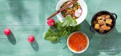Fritert tofu med søt chilisaus – vegetaroppskrift