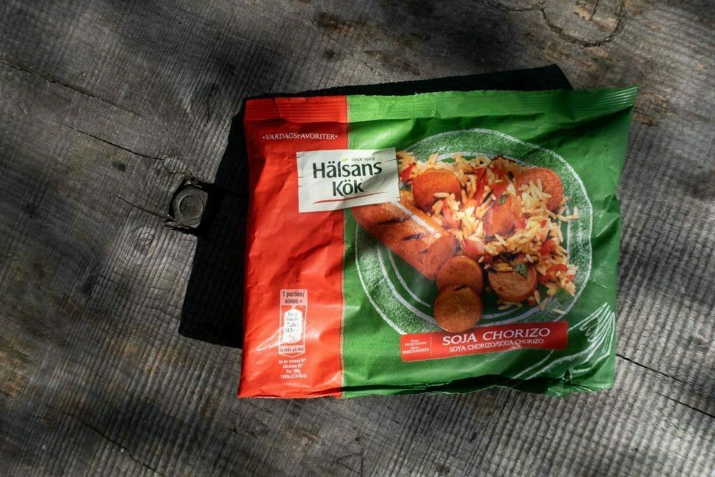 Test av vegetarpølse fra Helsans Kök: Soya Chorizo
