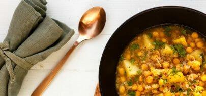 Gul ertesuppe – vegetaroppskrift